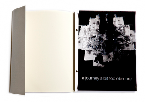 a journey a bit too obscure. Artist's Book, 2015