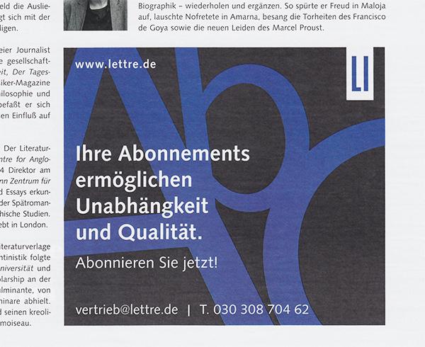 Lettre International, Anzeigen, Advertisments, Berlin